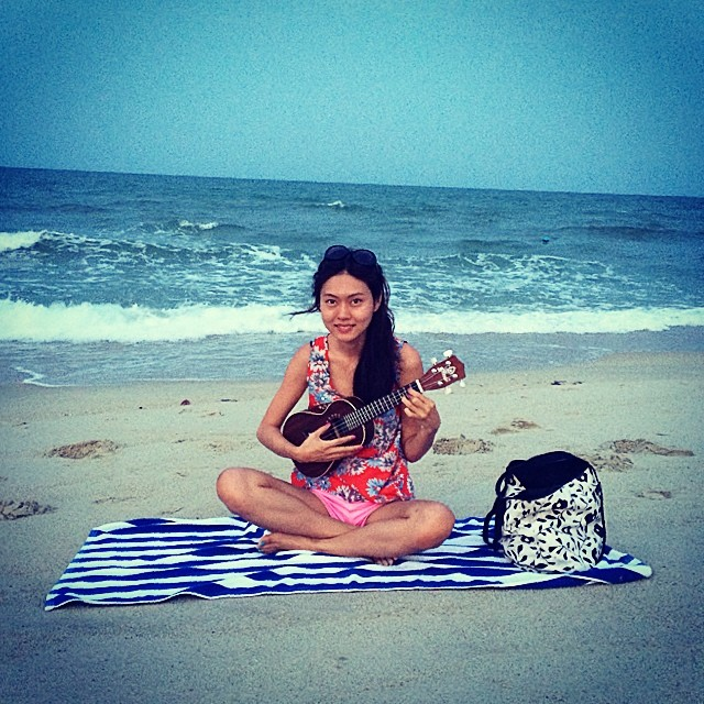 uke by the beach