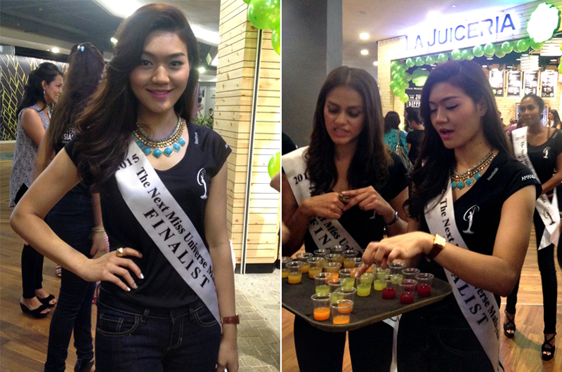 Amanda Khong promotes La Juiceria