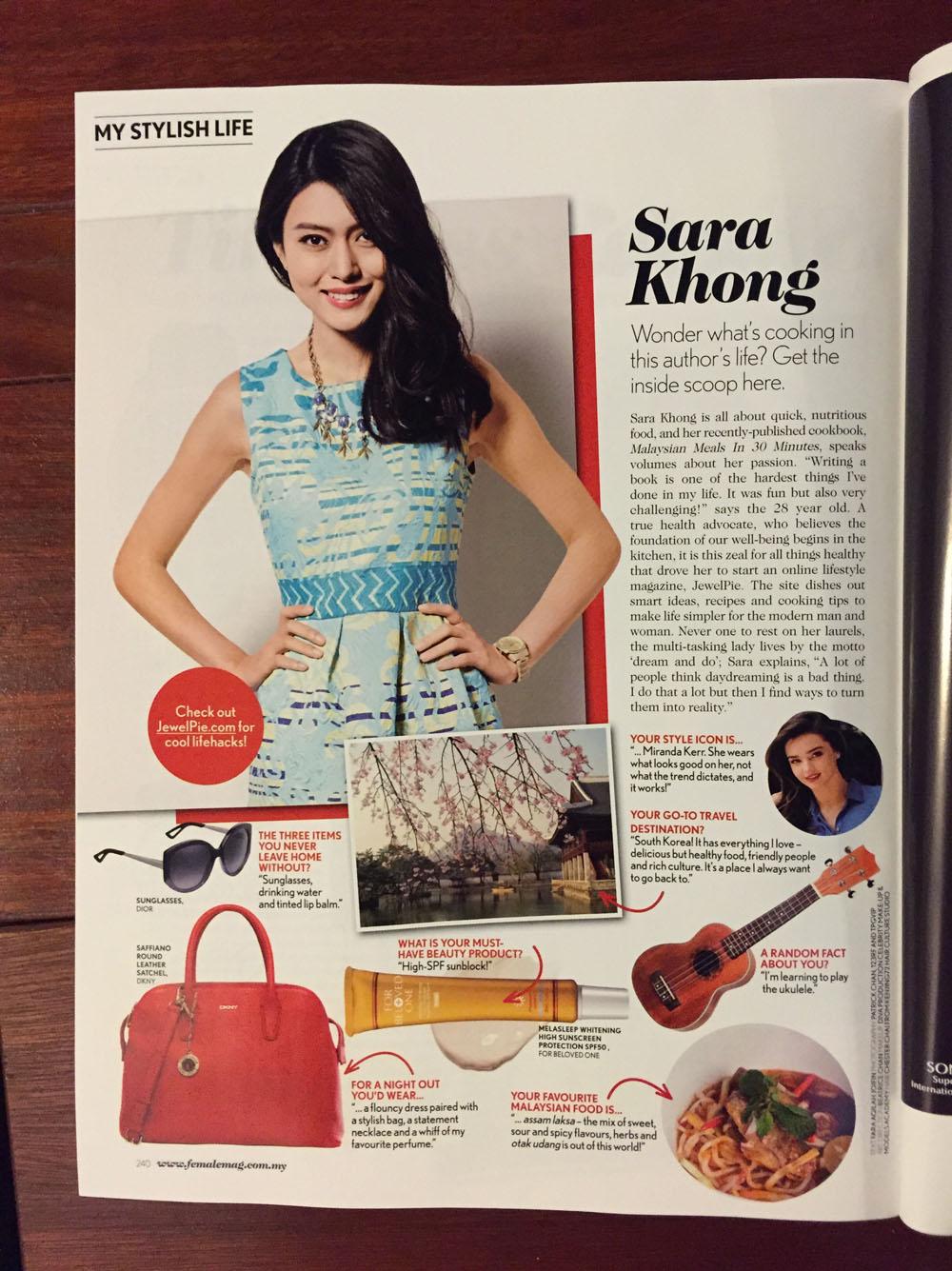 Female Magazine Malaysia - Sara Khong 2