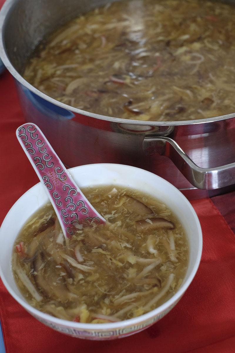 sara khong's imitation sharkfin soup