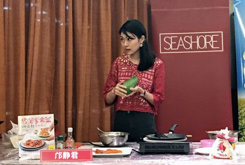 cooking demo at popular bookfest 2018